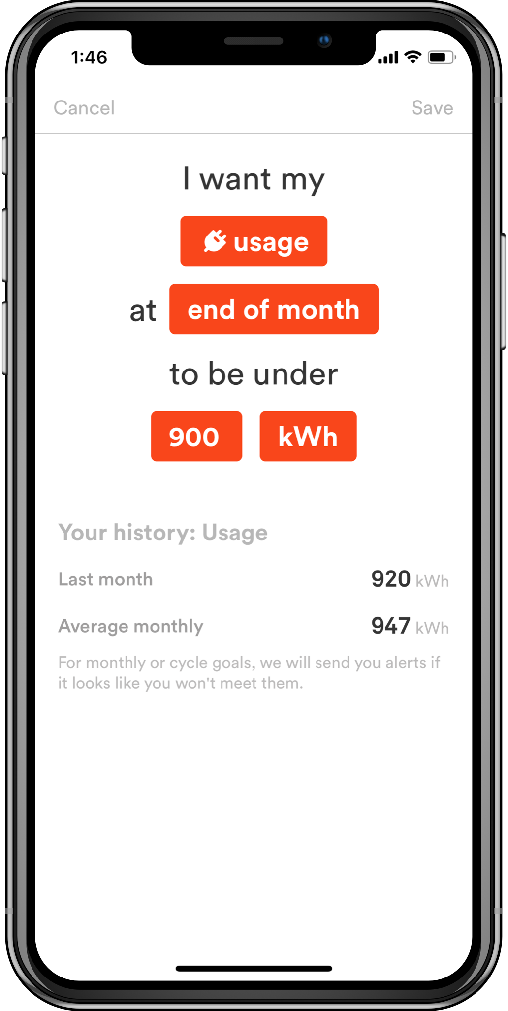 App to reduce energy use